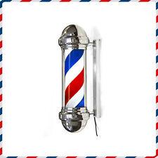 Barber pole cromato PICCOLO MINI insegna Barbiere SMALL luce e rotazione barbers