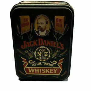 Vintage Jack Daniels Matches Old No 7 Whiskey Tin Hinged Embossed Box Complete