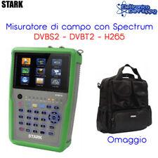 MISURATORE DI CAMPO DVB-S2 DVB-T2 H265 CON SPECTRUM STHE18