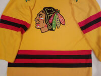 Chicago Blackhawks Jersey Mens XL extra large Starter fashion Yellow NHL Red