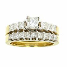 2 CT Diamond 18K Gold Bridal Set