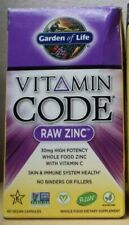 Garden Of Life Raw Zinc 30 mg Dietary Support Supplement - 60 Capsules