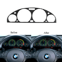 Carbon Fiber Dashboard Instrument Panel Cover Trim For BMW 3-Series E46 1998-05