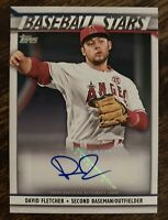 2020 Series 2 David Fletcher #BSA-DF Auto Los Angeles Angels