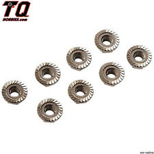 Tamiya 42282 Serrated Wheel Nut 4mm Black (8) Fast ship+ tracking#