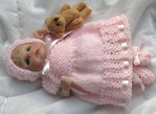 Princess in Pink Doll Knitting Pattern 7-8 Inch Clay Baby OOAK