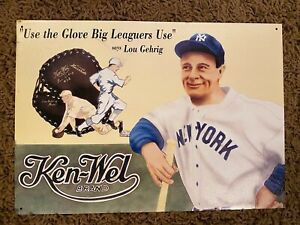 Lou Gehrig Ken-Wel Brand Replica Metallic Advertising Sign - Nostalgia