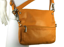 Sticks and Stones Honey Mango Yellow Leather Flap Convertible Crossbody Bag