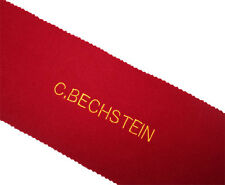 Bechstein Piano Key Cover - Red Felt Embroidered Keyboard Cover