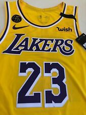 NWT AUTHENTIC Nike LA Lakers LeBron James Icon Edition NBA Jersey w/ Patches