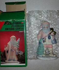 Flambro Porcelain Antique Santa