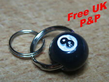 8 Ball - Black white Pool Zip pull  flying or leather jacket accessory - repro
