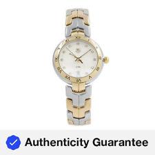 Enlace TAG Heuer Acero 18k Oro Diamante Plata Cuadrante Cuarzo Reloj WAT1350.BB0957