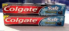 Toothpaste Colgate Salt Charcoal Calcium 2 pcs 2 x 80 g Worldwide Shipping