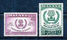 MALAYA 1960 WORLD REFUGEE YEAR SG15/16 BLOCKS OF 4 MNH