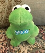 "HTF Color GREEN Nestle Nerds Candy Plush Advertising Mascot 6.5"" Good Stuff RARE"
