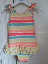 Sunuva Pretty Frilly Neon Striped Uv Swimming Costume 18-24 Months