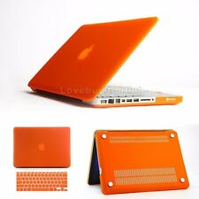 """Orange Rugged Rubberized Case Cover & Keyboard Cover for Apple Macbook Pro 15.4"""""""
