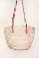 Bolso Artesanal de Sisal Beige - Capazo Africano Beige para Verano Playa