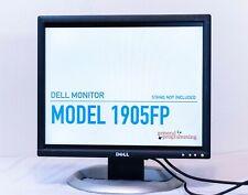 "Dell 19"" Monitor 1280x1024 1905FP w/ Power, VGA, DVI cables | NO STAND"