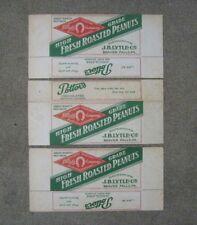 Roasted Peanuts Advertising Box lot of 3 J B Lytle Co Beaver Falls Pa Potter's