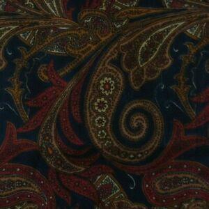 Red Blue Paisley Ascot Cravat