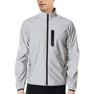 Men's Cycling Reflective Jacket Waterproof High Visibility Coat Windbreaker