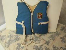 "Vtg. Stearn's Pee Wee ""Sans-Souci"" Beach 'n Boating Buoyant Vest Child Small"