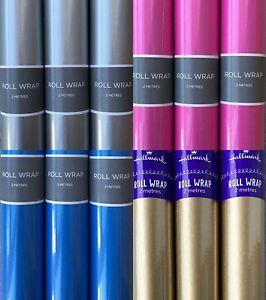 24M Hallmark Wrapping Paper Rolls- 12 x 2m Mixed 12 rolls per colour