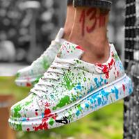 Apollo Men's Painted Alexander Mcqueen Style Sneakers 2