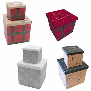 Christmas Gift Box with Lift off Lid - Choose Design and Size