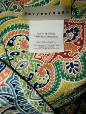 Pottery Barn Penelope paisley organic  KING  twilight blue  duvet