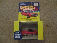 Johnny Lightning Thunderjets Thunder Jet 500 Pontiac GTO pink Pull back MISB