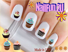 """RTG Set#509 IMAGE """"Yummy Cupcakes Set 1"""" WaterSlide Decals Nail Art Transfers"""