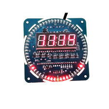 1PCS DS1302 Rotating LED Electronic Digital Clock 51 SCM Learning Board 5V
