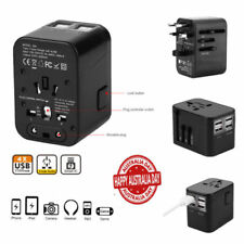 International Travel Power Adapter With 4 USB Fast Charger & Worldwide 100-250v