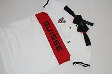 Polo Ralph Lauren Men White Shirt Small Pony Suisse Flag Large L   CUSTOM FIT