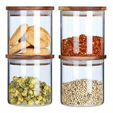 Glass Canisters Set For The Kitchen Glass Storage Jars With Airtight Wood Lid Ai