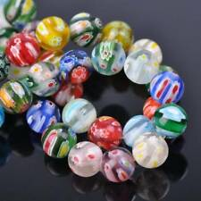 Mixed Flowers Millefiori Glass Loose Spacer Beads Lots 6mm 8mm 10mm 12mm 14mm