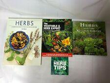 4x Herb Gardening Books Herbs & The Kitchen Garden Little Book of Herb Tips