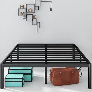 Zinus Van 16 Inch Metal Platform Bed Frame with Steel Slat Support / Mattress Fo