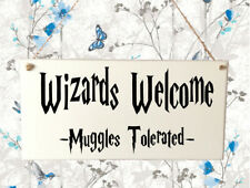 Quality Hand Made Plaque Wizzards Welcome Harry Potter Gift Present Home Muggles