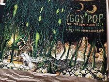 James R.Eads Iggy Pop Post Pop Depression Tour Denver AE # /40 Emek