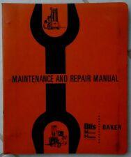BAKER ELECTRIC FORKLIFT MAINTENANCE & REPAIR MANUAL  FTD-060 FTD-070 FTD-080