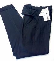 Damen Hose schwarz Größe 34 UnicaModa marke Italien Bundhöhe hoch UVP € 90