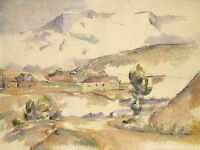 PAUL CEZANNE FRENCH MONTAGNE SAINTE-VICTOIRE GARDANNE ART PRINT POSTER BB6229A