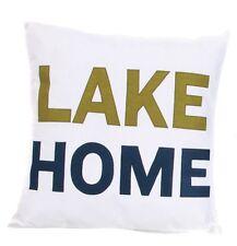 DEI Lake Home Living  Applique Throw Pillow