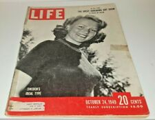 October 24, 1949 LIFE Magazine HABSBURG Art NOTRE DAME FREE SHIPPING Oct 10