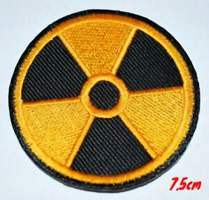 Radiation Yellow & Black World Iron on Sew on Embroidered Patch #243