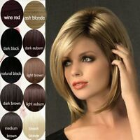 15% Off Bob Style Wig Women Short Straight Cosplay Daily Full Hair Wig +Free Cap